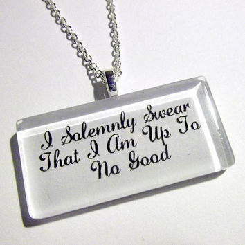 Solemnly Swear Pendant Necklace by trophies on Etsy