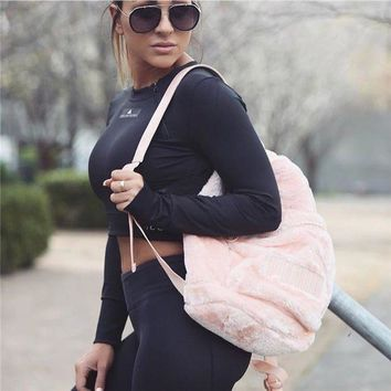 onetow puma wns fur cute backpack  number 1