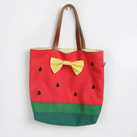 Red Watermelon Lunch Tote