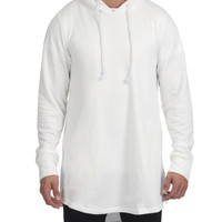 Genesis Side Zip Cape Hoody - White