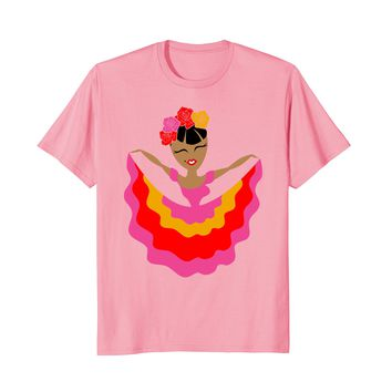 Ballet Folklorico Dancer Illustration Cartoon