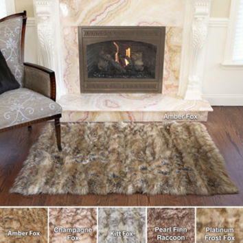 Wild Mannered Luxury Long Faux Fur Rug (3'4 x 4'10)   Overstock.com
