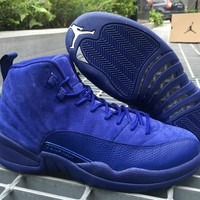 Air Jordan 12 ¡°Deep Royal Blue¡± AJ 12 Retro Men Basketball Shoes
