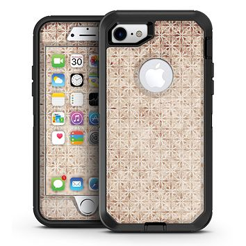 Grungy Tangerine Tile Pattern - iPhone 7 or 7 Plus OtterBox Defender Case Skin Decal Kit