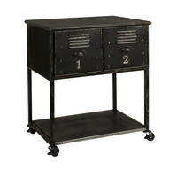 Imax Alastor 2-Drawer Rolling Cart Table 27687