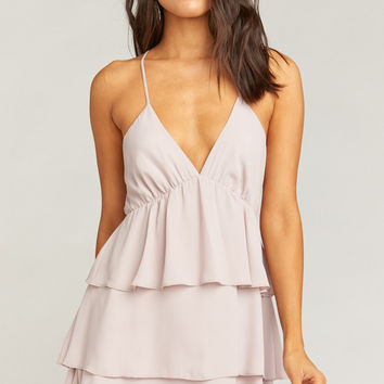 Bisou Dress ~ Dusty Lilac Crisp
