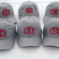 Monogrammed Baseball Caps Bridesmaid Gift