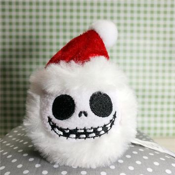The round Jack plush building block doll.9cm Stuffed The nightmare before christmas pumpkin king Jack soft toy d12