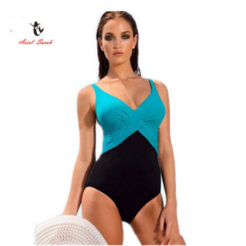 2017 One Piece Swimsuit Brazilian Bikini Set Sexy Tankini Set Beachwear Plus Size Swimwear Women Black Bathing Suit XXXXL BJ239
