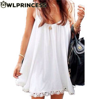 Owlprincess 2016 New Swimsuit Cover-up chiffon Dress One-piece Sexy Bikini Women o-neck solid Beach Dresses swim&Accessories