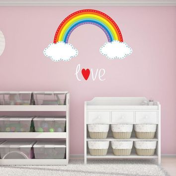 Rainbow Stitch Wall Decal