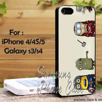 Despicable Me The Avengers Minions Design iPhone 4, iPhone 4s, iPhone 5, Samsung Galaxy S III, Samsung Galaxy S IV Case