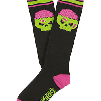 Creepy Cute Zombie Brains Knee Socks