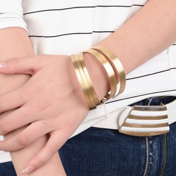 New Arrival Shiny Jewelry Accessory Stylish Gold Set Ring Bangle [7271691143]