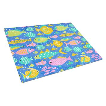 Little Colorful Fishes Glass Cutting Board Large VHA3034LCB