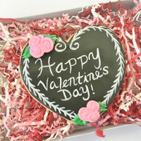 Valentines day personalized cookie gram chalkboard cookie 3 options