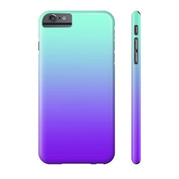 Turquoise Mermaid Mint Purple Fade iPhone Case