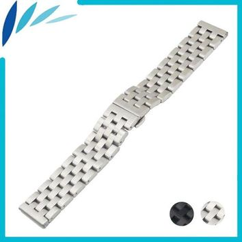 ac spbest Stainless Steel Watch Band 20mm 22mm for Oris Butterfly Buckle Strap Wrist Quick Release Loop Belt Bracelet Black Silver + Tool