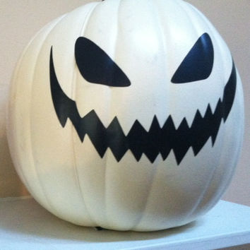 White Decorative Jack-o-Lantern/Pumpkin