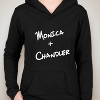 "Friends TV Show F.R.I.E.N.D.S ""Monica + Chandler"" Unisex Adult Hoodie Sweatshirt"