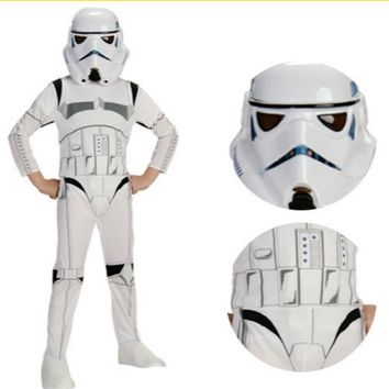 Boys Child Stormtrooper Costume Space Station Superhero Astronaut Costumes