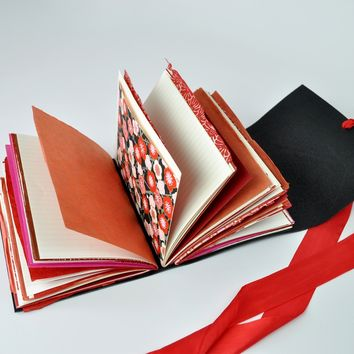 Poppy Field One of a Kind Leather Journal