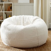 Faux Sheepskin Beanbag