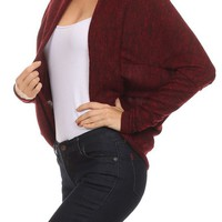 Casual & Career Open Front Long Dolman Sleeve Shawl Collar Knit Cardigan