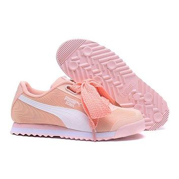PUMA Roma TK Graphic Trending Women Stylish Bow Running Sport Shoes Sneakers Light Pink I/A