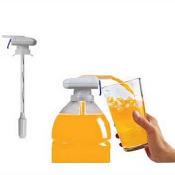 Magic tap Creative Beverage Drink Dispenser Electric Automatic Drinking Straw Fruit Juice Coke Milk Drinks Suck Tools