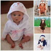 Infant Coral Fleece Baby Bath Robe