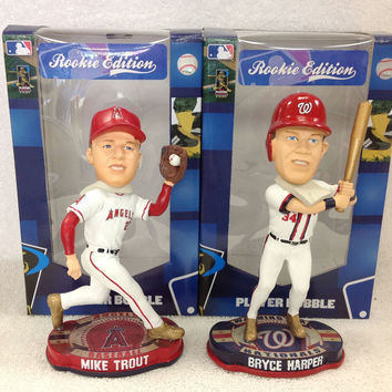 Mike Trout and Bryce Harper Bobblehead Set