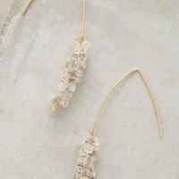 Crystallized Open Hoops by Anthropologie in Gold Size: One Size Earrings