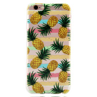 New Pineapple Printed iPhone 7 7Plus & iPhone se 5s 6 6 Plus Case Cover +Gift Box-86