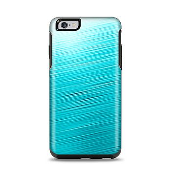 The Light Blue Slanted Streaks Apple iPhone 6 Plus Otterbox Symmetry Case Skin Set