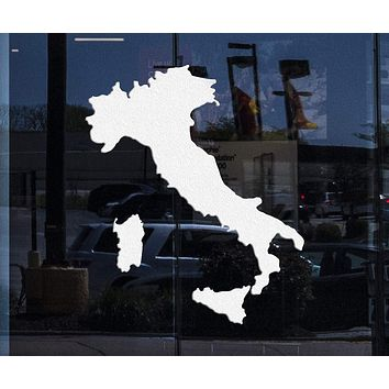 Home Window Decor Italy Map Large Vinyl Decal Europe Travel Tourism Living Room Decor Wall Sticker Unique Gift (z1736w)