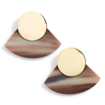 Soko Horn Paddle Stud Earrings | Nordstrom