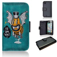 Cartoon Monster I'll Bee Bat | wallet case | iPhone 4/4s 5 5s 5c 6 6+ case | samsung galaxy s3 s4 s5 s6 case |