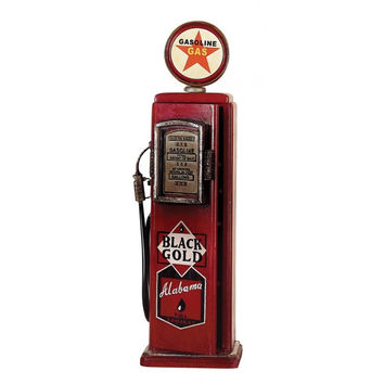 Red Gas Pump Cabinet
