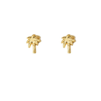 Palm Tree Studs, Gold Dipped | Dogeared