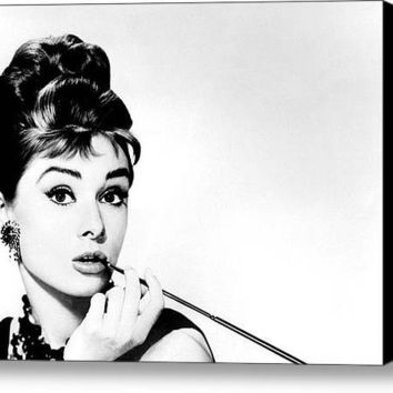 Limited Time Promotion: Audrey Hepburn Stretched Canvas Print