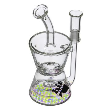 Hitman – Fresh Tech Hourglass Recycler with Brilliance Perc & Turbine Disc – Black Logo - 14.5mm