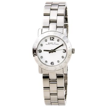 Marc by Marc Jacobs MBM3055 Women's Mini Amy White Crystal Accents Dial Stainless Steel Bracelet Quartz Watch