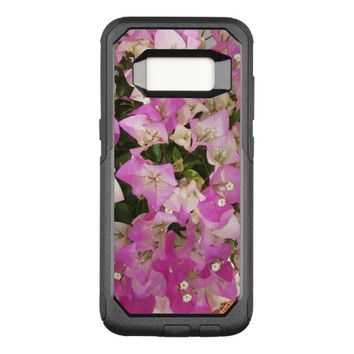 Pink White Bougainvillea Flower OtterBox Commuter Samsung Galaxy S8 Case