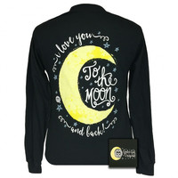 Girlie Girl Originals I Love You To The Moon and Back Long Sleeve T-Shirt
