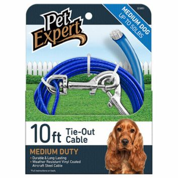 Pet Expert® PE223851 Tie Out Cable for Dogs, 920 lbs, 10'