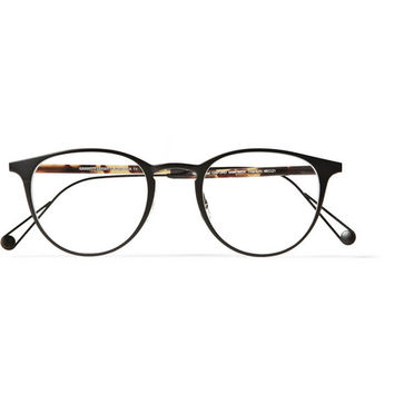 Garrett Leight California Optical - Oxford Round-Frame Titanium and Acetate Optical Glasses | MR PORTER