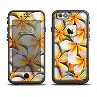 The Vibrant Yellow Flower Pattern Apple iPhone 6 LifeProof Fre Case Skin Set