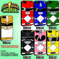 Power Rangers Collection - iPhone 4/4s/5 Case - Samsung Galaxy S3/S4 Case