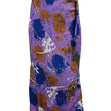 Womens Medieval Wrap Around Skirt Purple Tie Dye Hippie Long Maxi Skirts: Amazon.ca: Clothing & Accessories